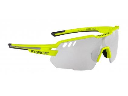 Cyklistické brýle FORCE AMOLEDO fluo šedé fotochromatické skla