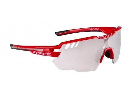 Cyklistické brýle FORCE AMOLEDO červené šedé fotochromatické skla