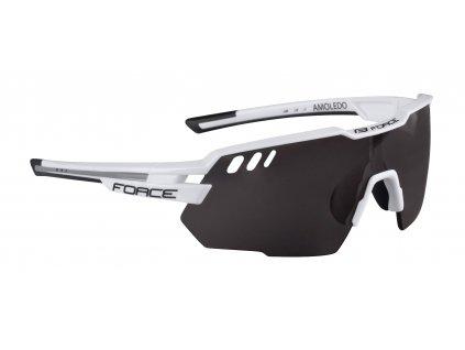 Cyklistické brýle FORCE AMOLEDO bílo šedé, černé skla