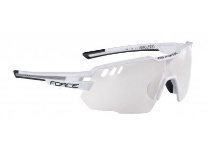 Cyklistické brýle FORCE AMOLEDO bílo šedé fotochromatické skla
