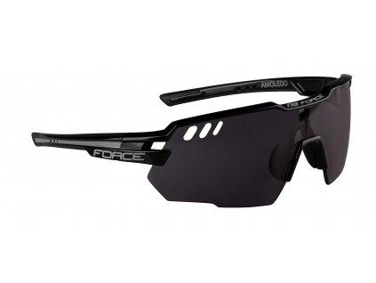 Cyklistické brýle FORCE AMOLEDO černo šedé, černé skla