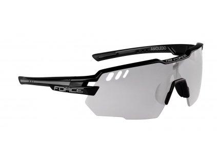 Fotochromatické cyklistické brýle FORCE AMOLEDO černo šedé