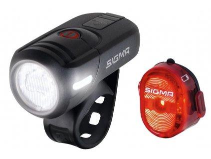 Světla na kolo SIGMA přední AURA 45 USB + zadní NUGGET II