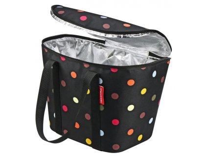 Thermo taška do koše na řídítka KLICKfix Iso Basket Bag puntíky