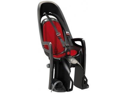 Dětská cyklo sedačka na zadní nosič Hamax Zenith šedá červená