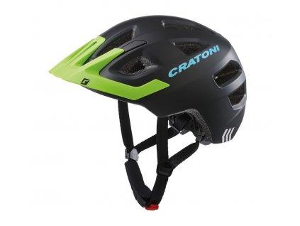Dětská cyklistická přilba Cratoni Maxster Pro Kid černá limetková