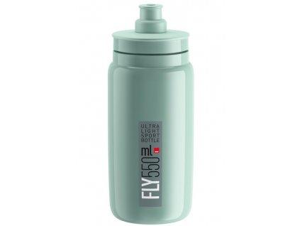 Cyklistická láhev ELITE FLY zelená šedá 550 ml