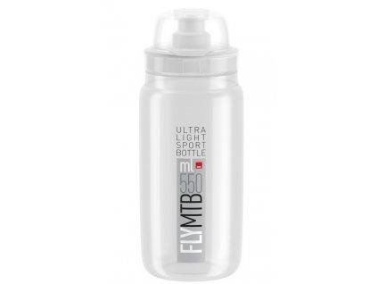 Cyklistická láhev Elite Fly MTB čirá šedá 550 ml