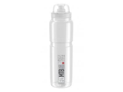 Cyklistická láhev Elite Fly MTB čirá šedá 950 ml