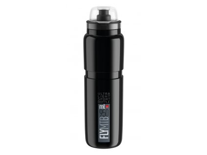 Cyklistická láhev Elite Fly MTB černá šedá 950 ml
