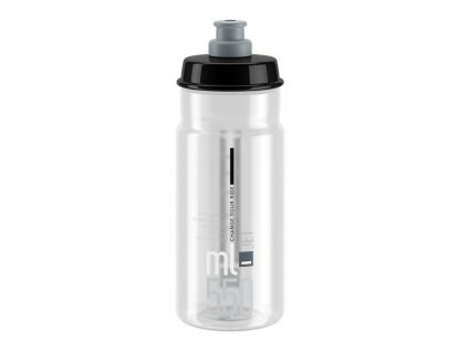 Cyklistická láhev Elite Jet čirá šedá 550 ml