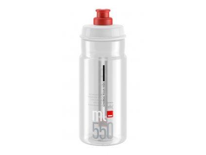 Cyklistická láhev Elite Jet čirá červená 550 ml