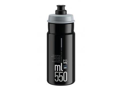Cyklistická láhev Elite Jet černá šedá 550 ml