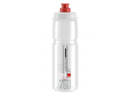 Cyklistická láhev Elite Jet čirá červená 750 ml