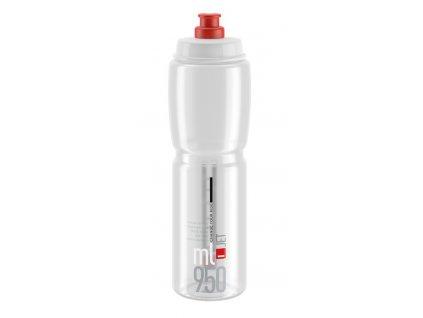 Cyklistická láhev Elite Jet čirá červená 950 ml
