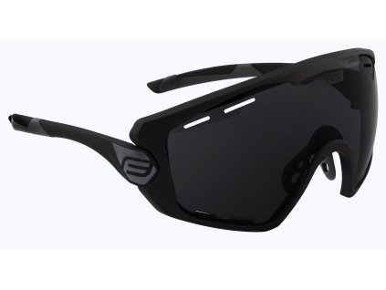 Cyklistické brýle FORCE OMBRO PLUS černé mat., černá skla