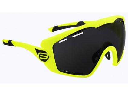 Cyklistické brýle FORCE OMBRO fluo mat., černá skla