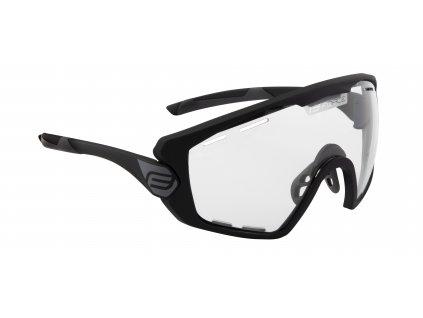 Cyklistické brýle FORCE OMBRO PLUS černé mat., fotochromatická skla