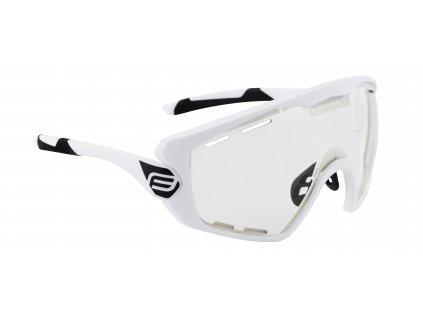 Cyklistické brýle FORCE OMBRO PLUS bílé mat., fotochromatická skla