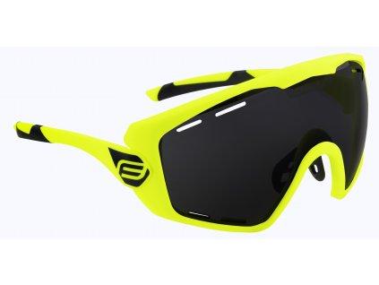 Cyklistické brýle FORCE OMBRO PLUS fluo mat., černá skla