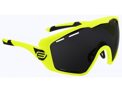 Cyklistické brýle FORCE OMBRO PLUS fluo mat., černá laser skla
