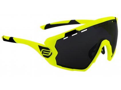 Cyklistické brýle FORCE OMBRO fluo mat., černá laser skla