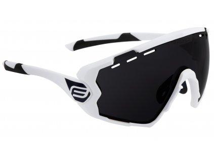 Cyklistické brýle FORCE OMBRO bílé mat., černá skla