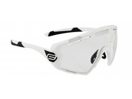 Cyklistické brýle FORCE OMBRO bílé mat., fotochromatická skla