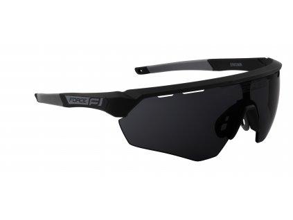 Cyklistické brýle FORCE ENIGMA černo šedé mat., černá skla