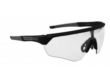 Cyklistické brýle FORCE ENIGMA černo šedé mat., fotochromatická skla
