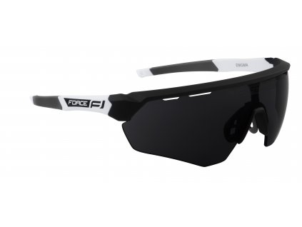 Cyklistické brýle FORCE ENIGMA černo bílé mat., černá skla