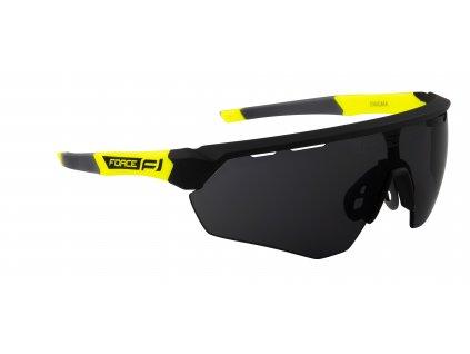 Cyklistické brýle FORCE ENIGMA černo fluo mat., černá skla