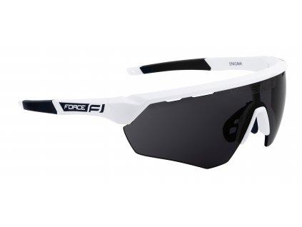 Cyklistické brýle FORCE ENIGMA bílé mat., černá skla