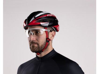 Cyklistické brýle FORCE ENIGMA bílé mat., fotochromatická skla