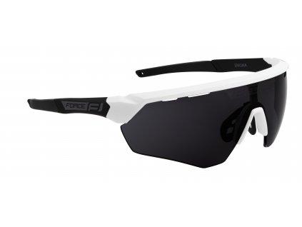 Cyklistické brýle FORCE ENIGMA bílo černé mat., černá skla