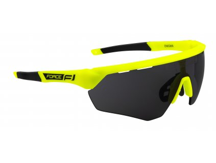 Cyklistické brýle FORCE ENIGMA fluo mat., černá skla