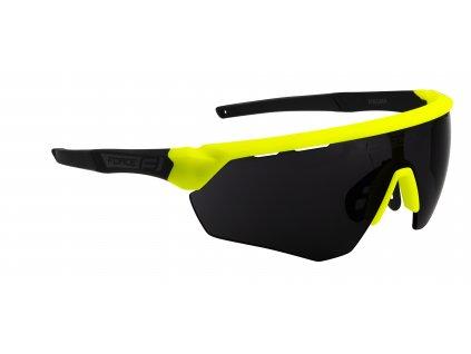 Cyklistické brýle FORCE ENIGMA fluo černé mat., černá skla