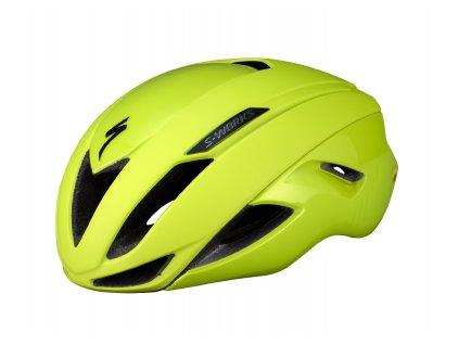 Cyklistická přilba Specialized S-Works Evade MIPS with ANGi Hyper Green