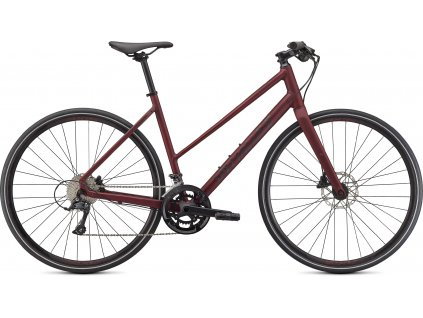 Fitness kolo Specialized Sirrus 3.0 Step Through 2021 maroon