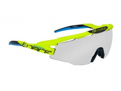 Cyklistické brýle FORCE EVEREST fluo, fotochromatická skla