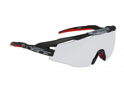 Cyklistické brýle FORCE EVEREST černé matné, fotochromatická skla