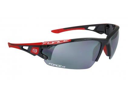 Cyklistické brýle FORCE CALIBRE černo-červené, černá laser skla