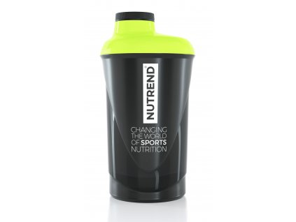 Láhev-šejkr NUTREND 0,6 l, černo-fluo-zelený