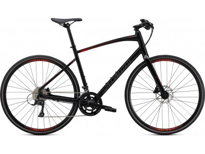 Fitness kolo Specialized Sirrus 3.0 2020 Gloss Cast Black - Rocket Red
