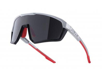Cyklistické brýle FORCE APEX černo šedé, černá skla