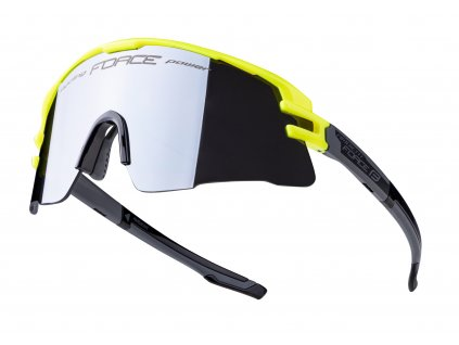 Cyklistické brýle FORCE AMBIENT fluo šedé, černá zrc. skla