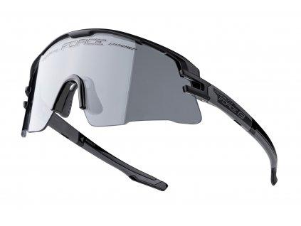 Cyklistické fotochromatické brýle FORCE AMBIENT černo šedé