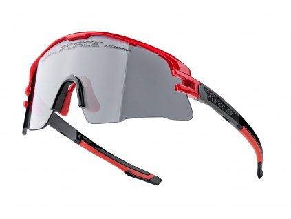 Cyklistické fotochromatické brýle FORCE AMBIENT červeno šedé