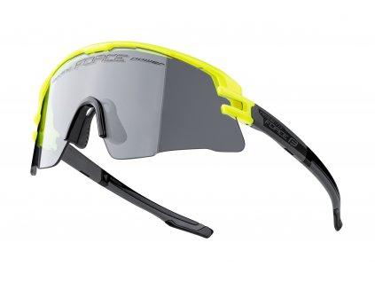 Cyklistické fotochromatické brýle FORCE AMBIENT fluo šedé