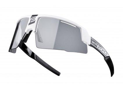 Cyklistické fotochromatické brýle FORCE IGNITE bílo černé